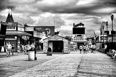 Photograph - Seaside Heights Boardwalk Infrared by John Rizzuto