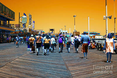 Photograph - Seaside Heights Boardwalk Pop Art by John Rizzuto