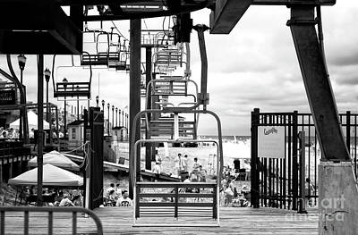 Seaside Heights Chair Lift Infrared Art Print by John Rizzuto