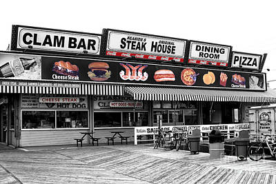 Seaside Heights Clam Bar Fusion Art Print by John Rizzuto
