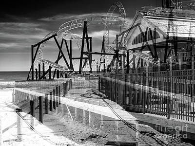 Photograph - Seaside Heights Double Exposure by John Rizzuto