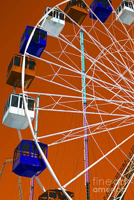 Photograph - Seaside Heights Ferris Wheel Pop Art by John Rizzuto