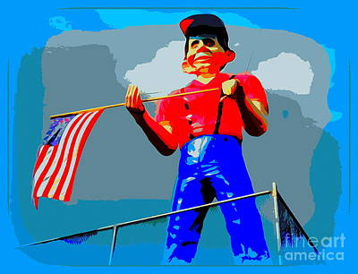 Digital Art - Seaside Heights Half Wit by Ed Weidman