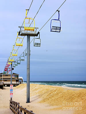 Photograph - Seaside Heights Ski Lift Colors by John Rizzuto