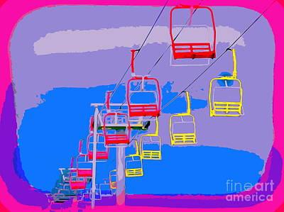Digital Art - Seaside Heights Sky Ride by Ed Weidman