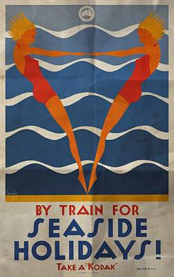 Mixed Media - Seaside Holidays Australia - Folded by Vintage Advertising Posters