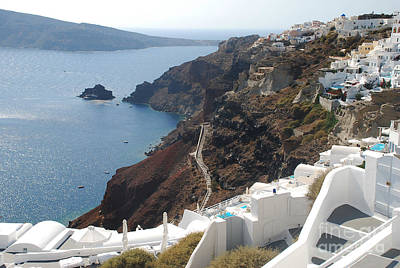 Nirvana - Seaside Homes on Santorini Island by Just Eclectic