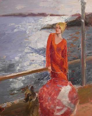 sold Seaside Interest Art Print by Irena  Jablonski