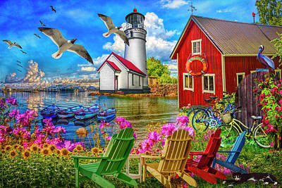 Photograph - Seaside Invitation At The Harbor In Hdr Detail by Debra and Dave Vanderlaan