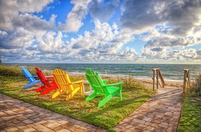 Photograph - Seaside Invitation by Debra and Dave Vanderlaan