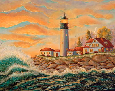 Seaside Lighthouse Art Print