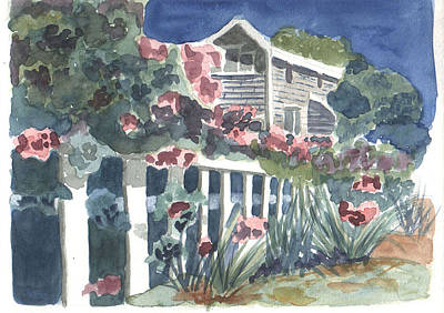 Painting - Seaside Manor by Jane Croteau
