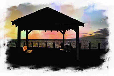 Digital Art - Seaside Park 5 by Sami Martin