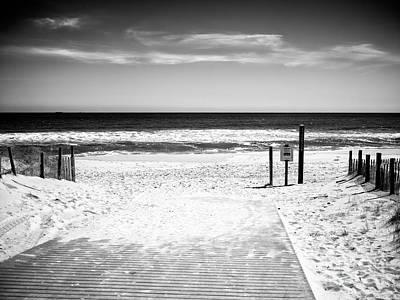 Photograph - Seaside Park Beach Entry by John Rizzuto