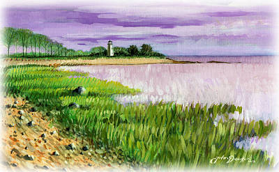 Painting - Seaside Park by John Deecken