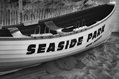 Photograph - Seaside Park New Jersey Bw by Susan Candelario