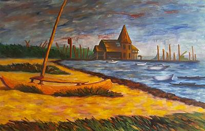 Seaside Park Nj Yacht Club Original by Joann Renner