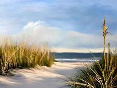 Seascapes Digital Art - Seaside Path by Anthony Fishburne