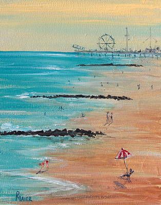Boardwalk Painting - Seaside by Pete Maier