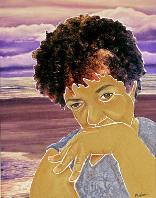 Mixed Media - Seaside Pondering by Martha Rucker