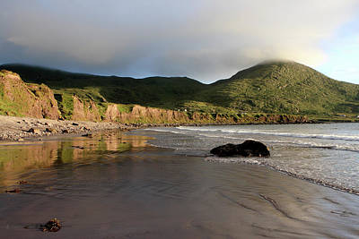 Irish Seascape Photograph - Seaside Reflections - County Kerry - Ireland by Aidan Moran