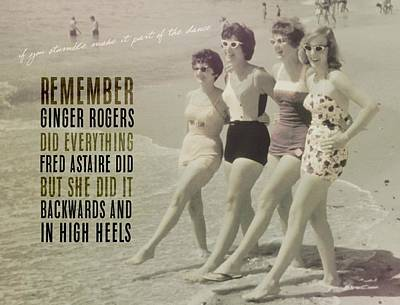 Seaside Rockettes Quote Art Print by JAMART Photography