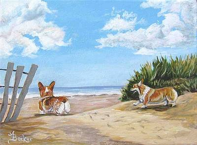 Seaside Romp Art Print by Ann Becker