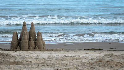 Photograph - Seaside Sand Castle by Debra Martz