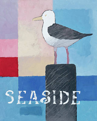 Painting - Seaside Seagull by Lutz Baar