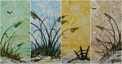 Painting - Seaside Settings Collage by JoNeL Art