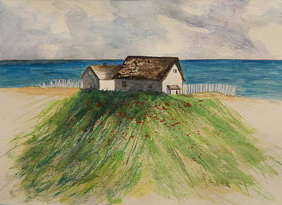 Painting - Seaside Shacks by Betty-Anne McDonald
