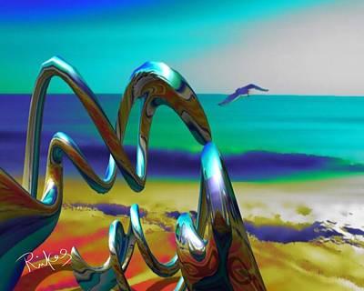 Digital Art - Seaside Spiral  by Diana Riukas