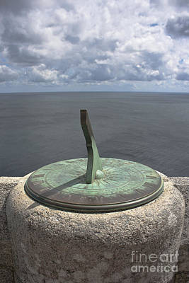 Photograph - Seaside Sundial by Terri Waters
