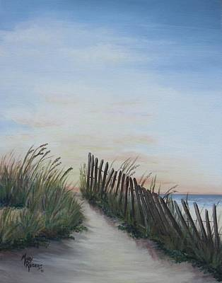 Seaside Sunrise Art Print by Mary Rogers