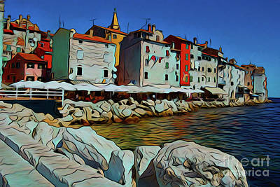 Photograph - Seaside Town 19318 by Ray Shrewsberry