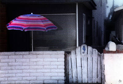 Photograph - Seaside Umbrella by Wayne King