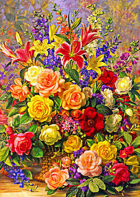 Painting - Season Flowers by Munir Alawi