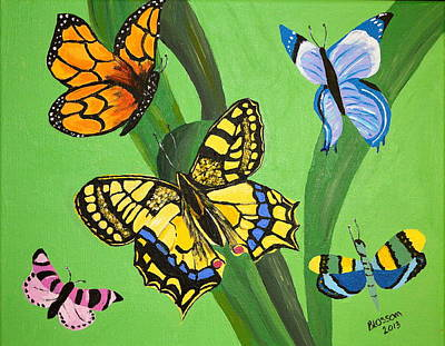 Painting - Season Of Butterflies by Donna Blossom