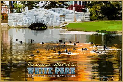 Season Reflections White Park Art Print
