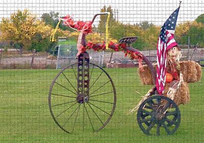 Seasonal Antique Tricycle 1 Art Print by Steve Ohlsen