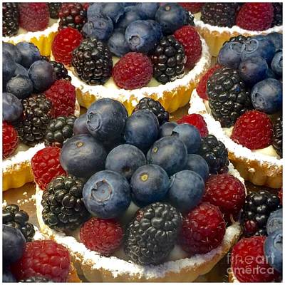 Photograph - Seasonal Fruit Tart Dessert by Susan Garren