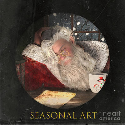 Mixed Media - Seasonal logo by Shanina Conway