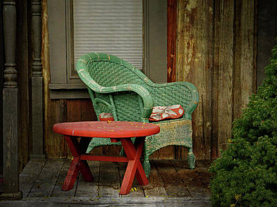 Photograph - Seasonal Seat - 365-269 by Inge Riis McDonald