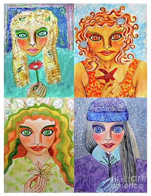 Painting - Seasons by Caroline Street