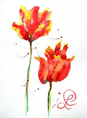 Season's First Tulips Art Print