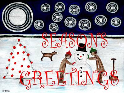 Seasons Greetings 14 Art Print by Patrick J Murphy