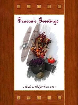 Cabbage Mixed Media - Season's Greetings #2 by Fabiola L Nadjar Fiore