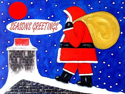 Christmas Eve Painting - Seasons Greetings 62 by Patrick J Murphy
