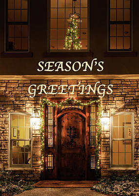 Photograph - Season's Greetings Greeting Card by Joni Eskridge
