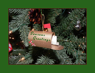Photograph - Seasons Greetings Mailbox by Kathy K McClellan